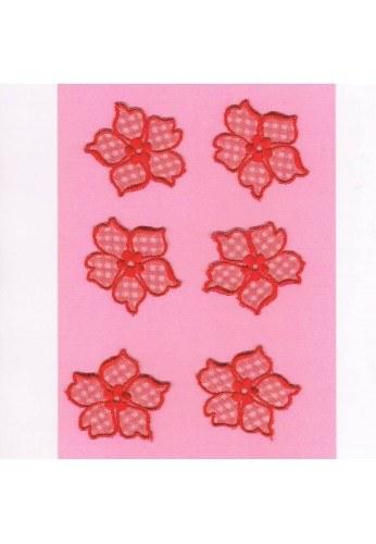 Ecussons Dentelle fleurs 6 pieces à coudre