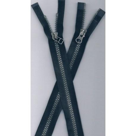 Fermetures sép. NOIR avec double curseur 65cm jusqu'à 75cm