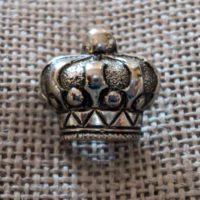 Bouton argenté couronne 13mm