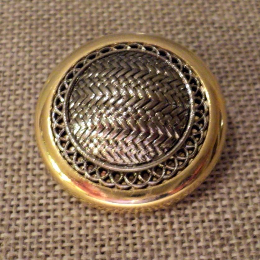 Bouton blazer tailleur argenté / doré 25mm
