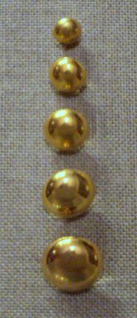 Bouton demi boule doré 10mm/12mm/15mm/18mm/20mm