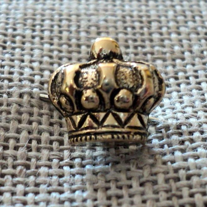 Bouton doré couronne 10mm