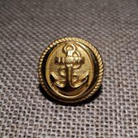 Bouton métal Caban Marin doré avec ancre 14mm