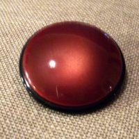Bouton manteau marron / brique 38mm