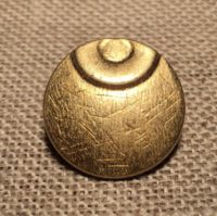 Bouton planète métal doré 18mm contemporain