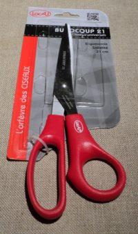 Ciseaux ergonomique 21cm Locau tout tissus