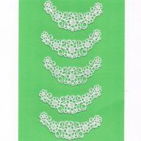 Ecussons Dentelle blanc fleurs 5 pieces à coudre