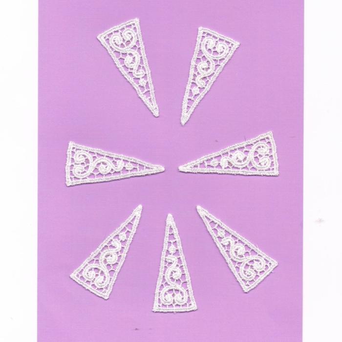 Ecussons Dentelle blanc fleurs 7 pieces à coudre