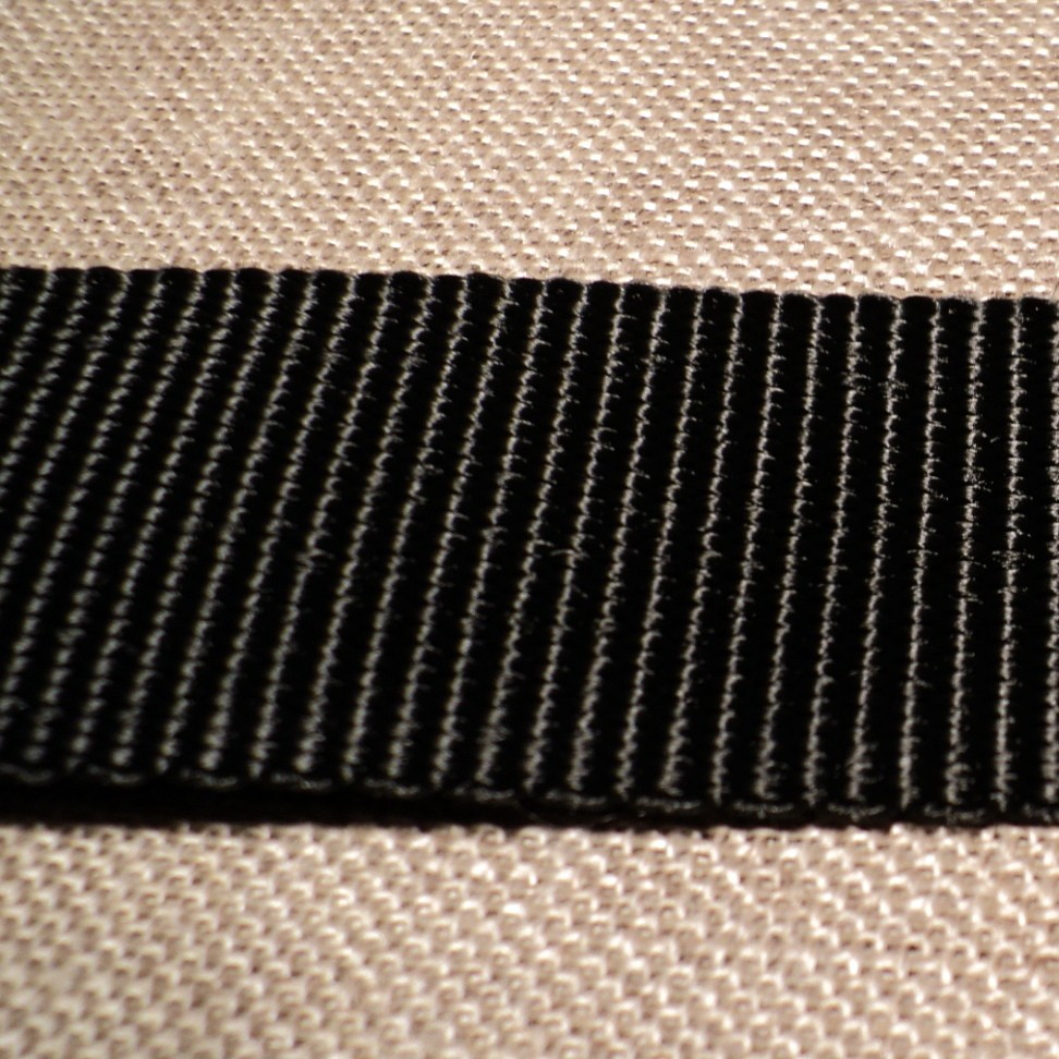 Ruban sangle 30 mm noir YKK extra fort