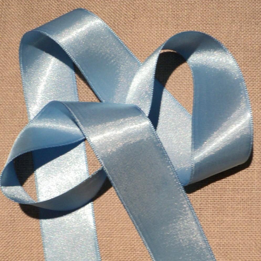 Ruban satin bleu clair 30mm double face satin vendu au mètre