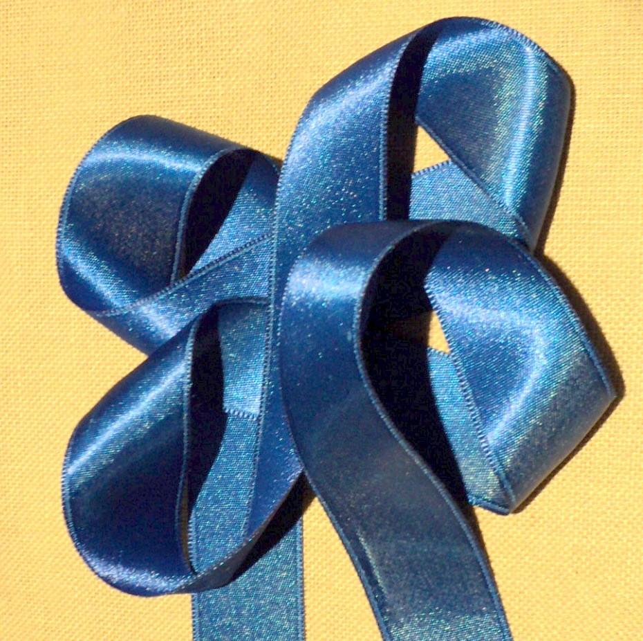 Ruban satin bleu roi 30mm double face satin vendu au mètre