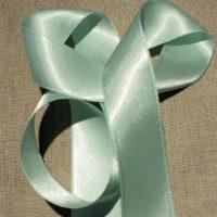 Ruban satin vert clair 30mm double face satin vendu au mètre