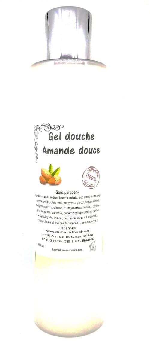 AMANDE DOUCE SANS PARABEN Fabrication Artisanale AU BAIN DOUCHE