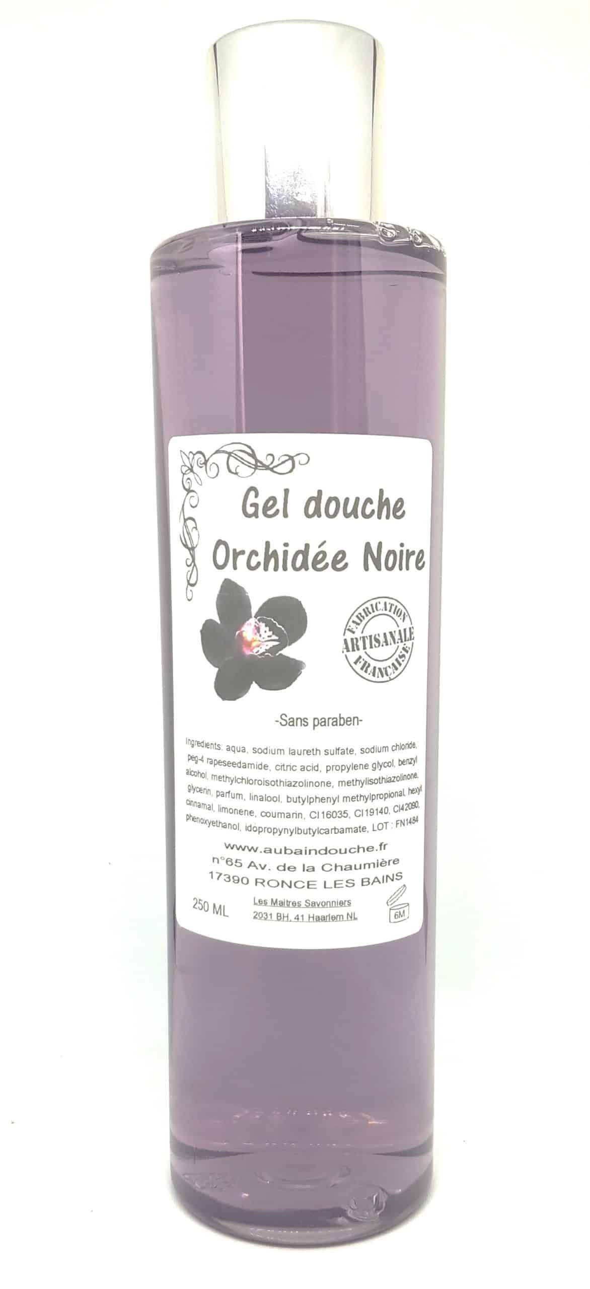 ORCHIDEE NOIRE SANS PARABEN Fabrication Artisanale AU BAIN DOUCHE