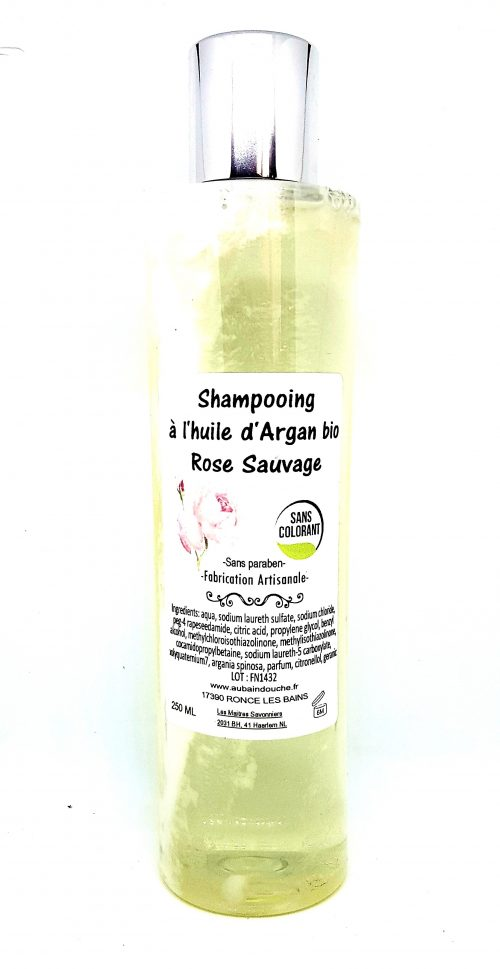 ROSE SAUVAGE 2-en-1 Fabrication Artisanale AU BAIN DOUCHE