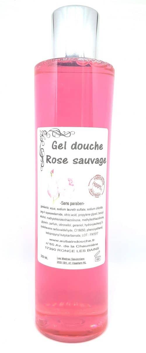 ROSE SAUVAGE SANS PARABEN Fabrication Artisanale AU BAIN DOUCHE