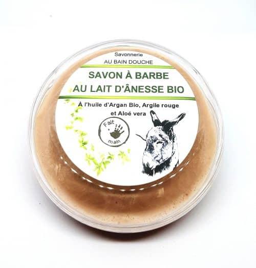 SAVON A BARBE AU LAIT D ÄNESSE BIO LAIT D'ANESSE BIO (10%) Fabrication Artisanale AU BAIN DOUCHE